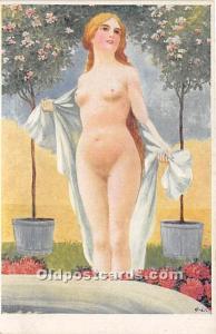 Nude Postcard O Herzig Unused