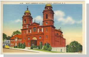 Asheville, NC Postcard, Saint Lawrence Church, Near Mint!