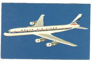 DELTA DC-8 Fanjet airplane 60-70s
