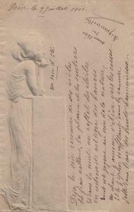 M.M.VIENNE : Art Nouveau Woman , 1902