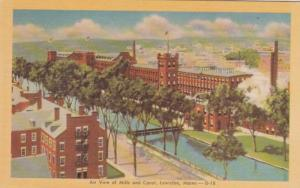 Maine Lewiston Aerial View Of Mills and Canal Dexter Press
