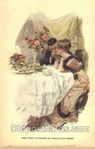 Series No. 190 The First Evening in Their Own Home Artist Signed Harrison Fis...