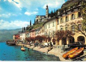 B110376 Italy Morcote Lago di Lugano Lake Boats Auto Vintage Cars