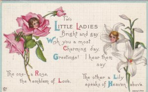 Two Little Ladies, The One a Rose The Emblem Of Love The Other A Lily, 00-10s