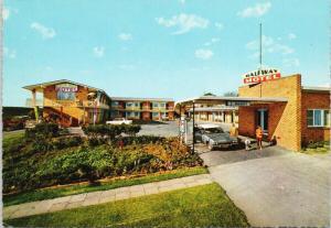 Halfway Motel Eden NSW Australia Family Old Car Vintage Postcard D59 UNUSED