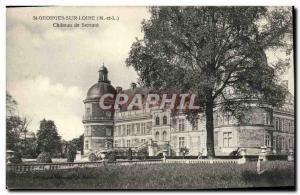 Old Postcard St Georges sur Loire Chateau de Serrant