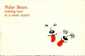 Humour Polar Bears Making Love In A Snow Storm 1985