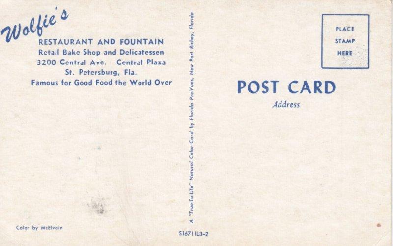ST PETERSBURG , Florida , 1950-60s ; Wolfie's Restaurant & Fountain