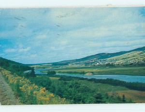 Pre-1980 TOWN VIEW SCENE Margaree Valley - Cape Breton Nova Scotia NS p9918
