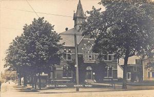 Natick MA Morse Library, Tucker publisher RPPC Postcard