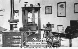 Early Doctor's Office, Dr Hapeman's Office 1884-1947 Minden, Nebraska, NE, US...