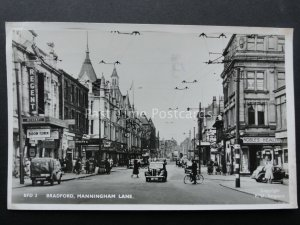 Yorkshire BRADFORD Manningham Lane showing THE REGENT THEATRE c1949 RP Postcard