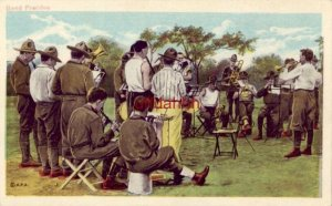 WWI soldiers in action BAND PRACTICE Illustrated Postal Card & Nov Co