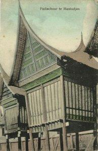 indonesia, SUMATRA MANINDJAN, Minangkabau Paddy Shed (1910s) Postcard