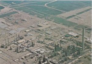 Aerial view of Syncrude Processing Plant, Fort McMurray, Calgary, Alberta, Ca...