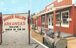 Booger Hollow Arkansas Street View Vintage Postcard K52329