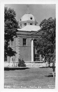 G60/ Clayton New Mexico RPPC Postcard c1950s Court House Building