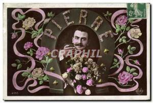 Old Postcard Fancy Surname Pierre Horseshoe