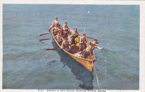 Eskimo In Skin Omiak, Hunting Walrus, Alaska, 1930-1940s