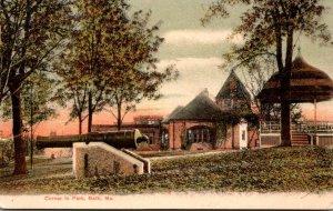 Maine Bath Corner In The Park 1907