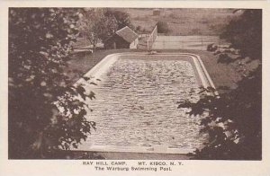 New York Mt Kisco Ray Hill Camp The Warburg Swimming Pool Albertype