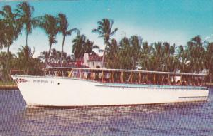 Florida Fort Lauderdale The Pippin Sightseeing Circular Jungle Cruise 1960