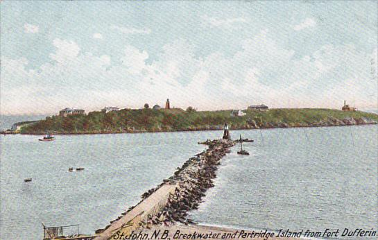 Canada St John Breakwater and Partridge Island From Fort Dufferin