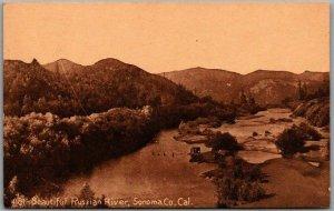 Sonoma County, California Postcard Beautiful Russian River PNC Sepia c1910s