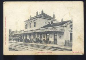 COMMERCY FRANCE LE GERE RAILROAD DEPOT TRAIN STATION VINTAGE POSTCARD 1908