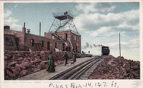 Colorado Pikes Peak Station On Pikes Peak
