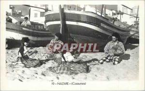 Postcard Modern Folk Costumes Nazare Fishing Boat