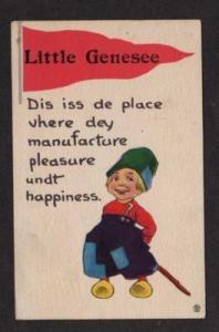 NY LITTLE GENESEE NEW YORK Banner  Dutch Boy Pennant PC