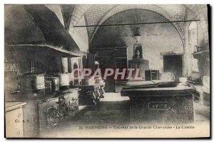 Old Postcard Dauphine Convent Of The Grande Chartreuse The Kitchen