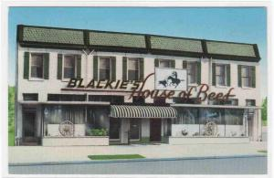 Blackie's House of Beef Restaurant Washington DC postcard