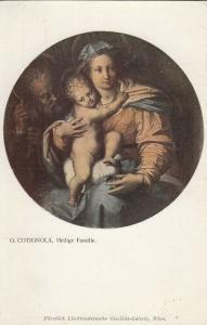 Holy Family by G. Cotignola postcard