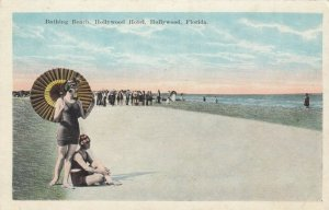 HOLLYWOOD , Florida , 1900-10s ; Bathing Beach, Hollywood Hotel