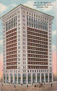 Nebraska Omaha W O W Building 14th and Farnam Streets Curteich