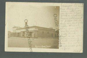 Washburn ILLINOIS RPPC 1907 MARTINI GENERAL STORE nr Peoria Minonk Wenona Lacon