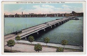 Harvard Bridge between Boston and Cambridge, Mass