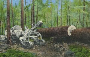 Modern Logging Tractor At Work Hyster Equipment Forestry Unused Postcard E9