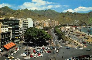 Spain Santa Cruz de Tenerife The Main Street in Anaga Cars Postcard