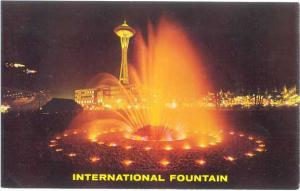 International Fountain at Night Seattle Center Washington WN