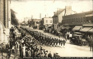 Washington DC Funeral Rear Admiral WS Schley 1911 Real Photo Postcard
