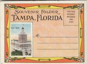 TAMPA , Florida, 1910s ; Souvenir Folder Postcard (Mini)