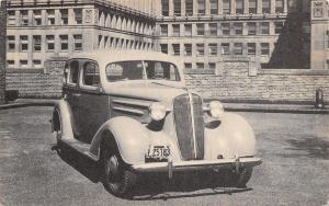 1936 Chevrolet Four Door Sedan~LP# V 25783~B&W Car Advertising Postcard