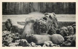 Architecture photo postcard Encelade Fountain statue detail Versailles France