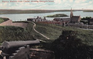 HALIFAX, Nova Scotia, Canada, PU-1909; Harbour From Citadel, Showing George's...