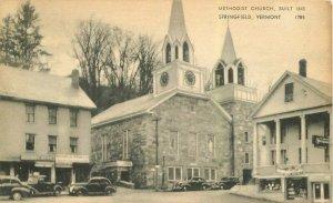 Springfield Vermont Methodist Church #1785 American Art Postcard 21-10370
