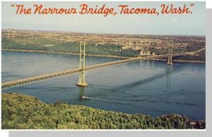 Nice Tacoma, Washington/WA Postcard, The Narrows Bridge