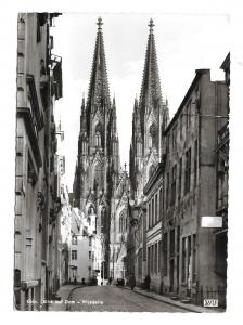 Germany Cologne Cathedral Blick auf Koln Dom Westseite Kessel Art Photo Postcard